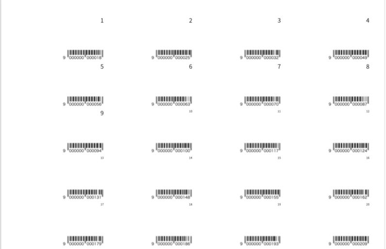 Airレジの登録などにも使える!JANコード40枚のテンプレを作成しました!